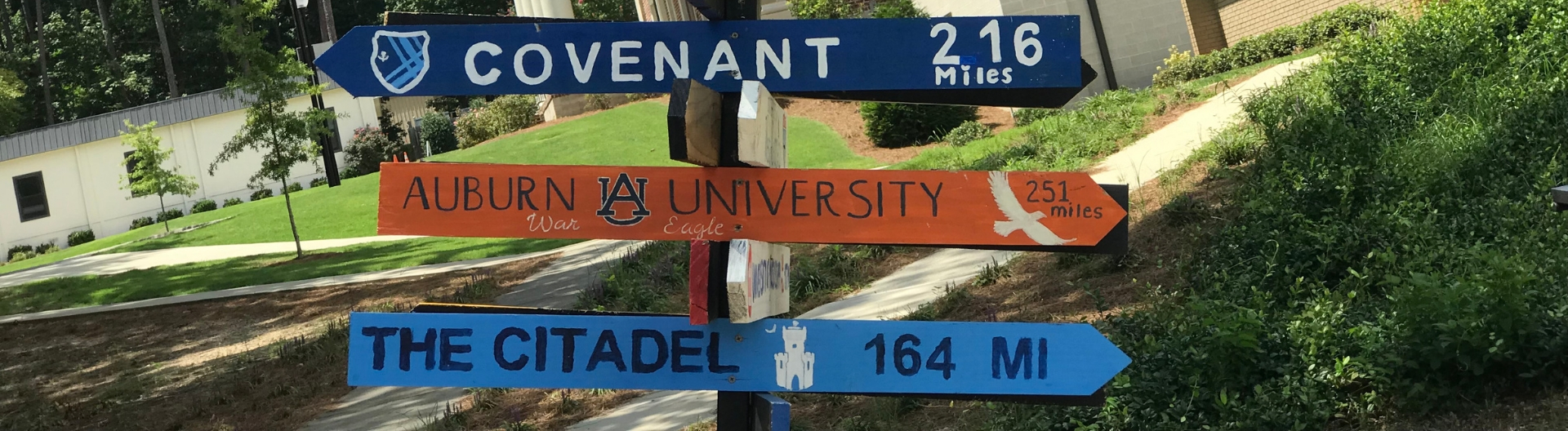 Header: College Post Signs | Westminster