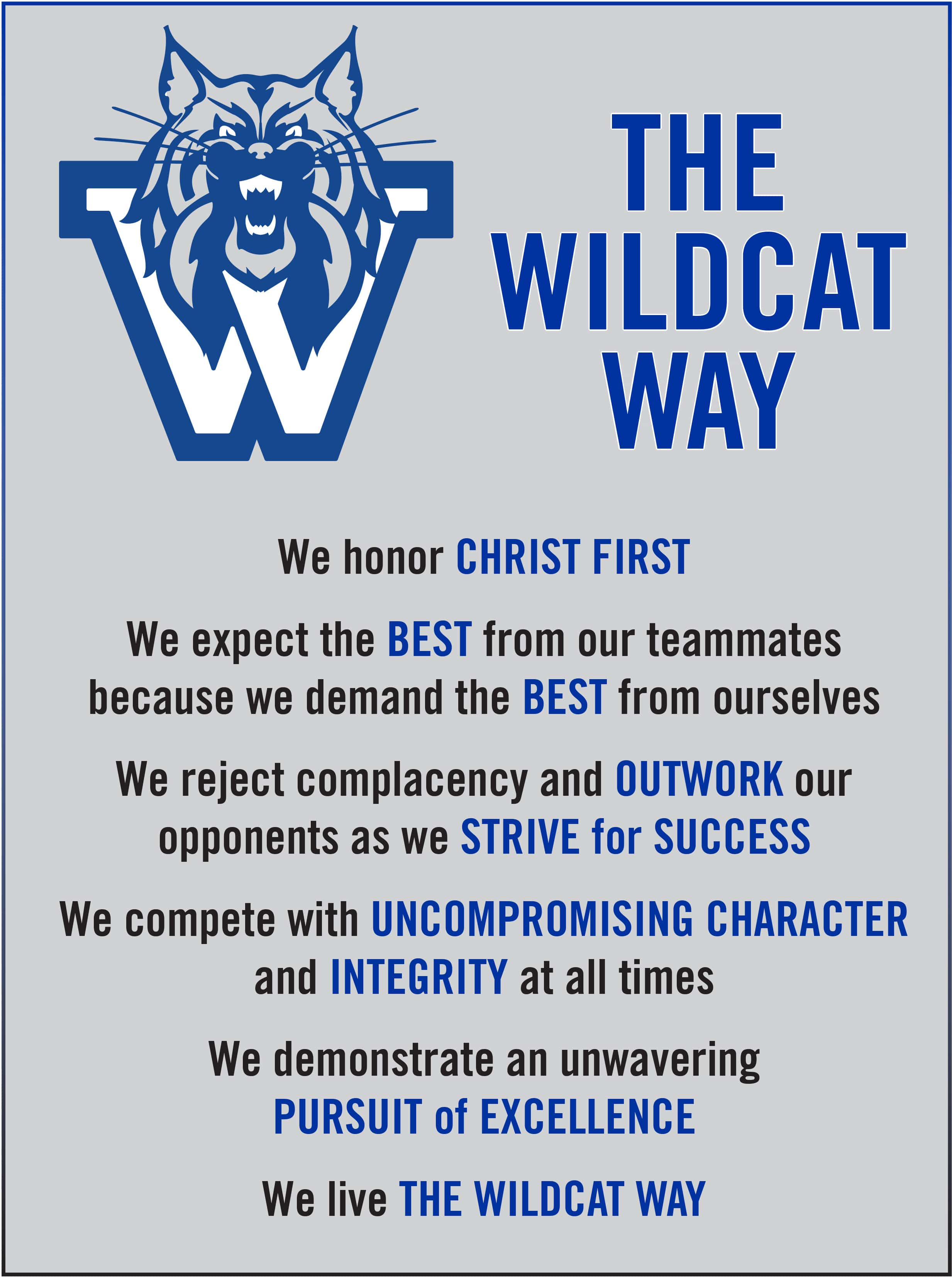 wildcat way original | Westminster