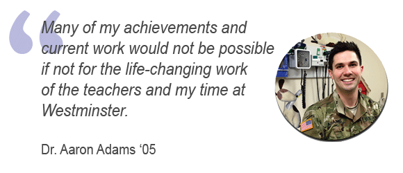Dr. Adams alumni testimonial | Westminster