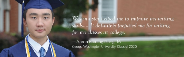 international student aaron gong | Westminster