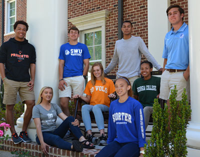 college athletes on porch 2 | Westminster