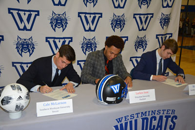 College Athletes right side photo | Westminster