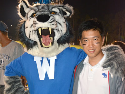 international student with willie | Westminster