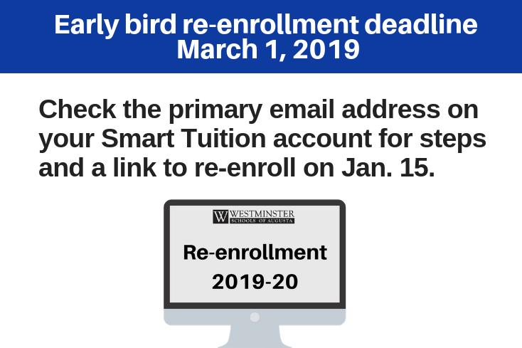 Parent Page: Re-enrollment  | Westminster