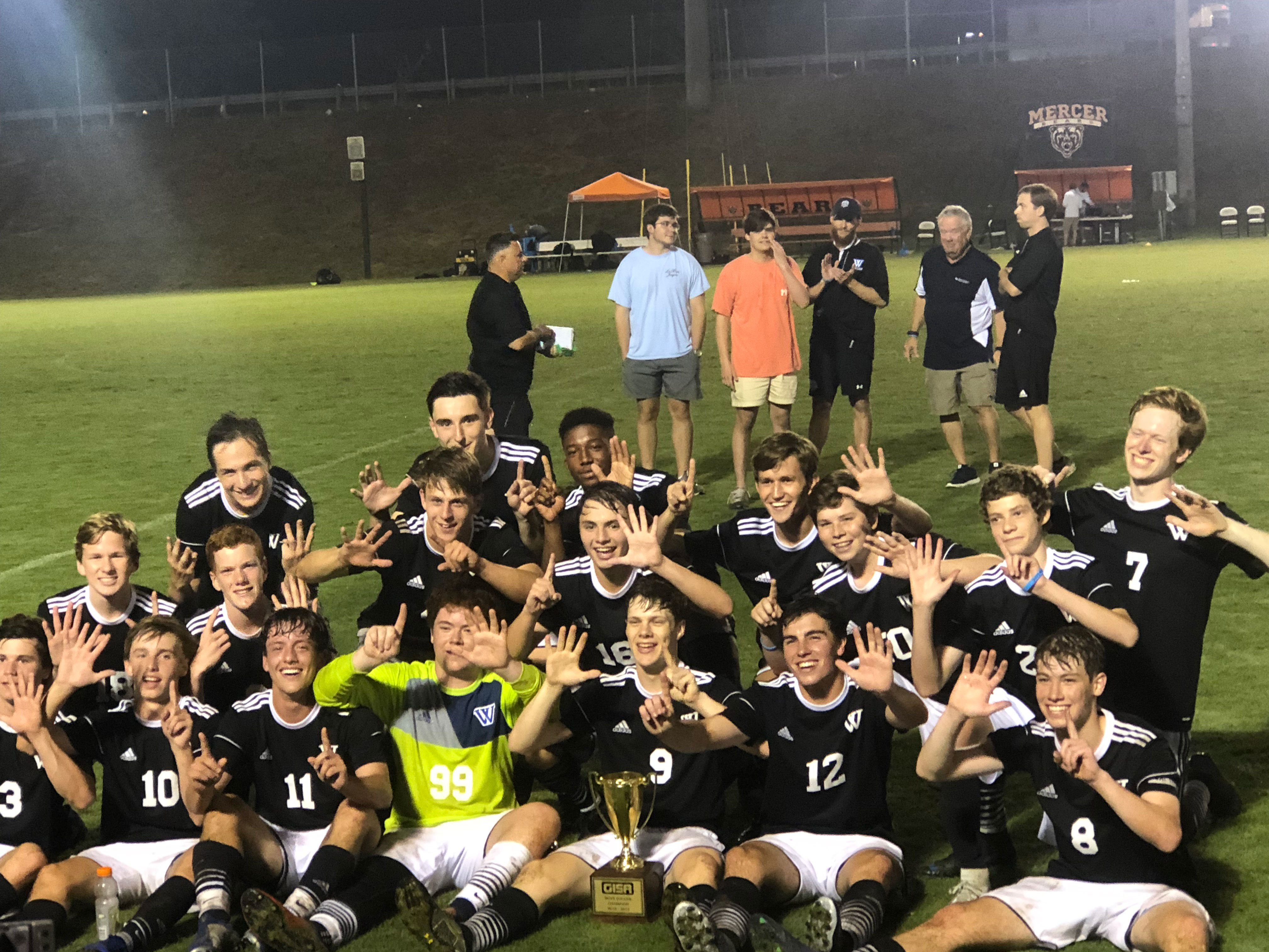 boys soccer state champs photo | Westminster