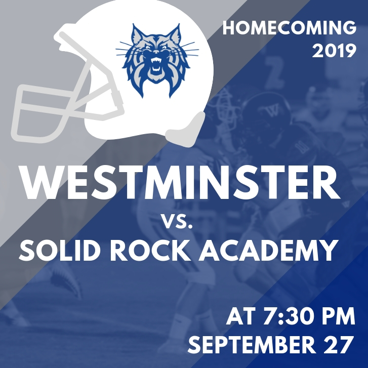 Homecoming graphic | Westminster