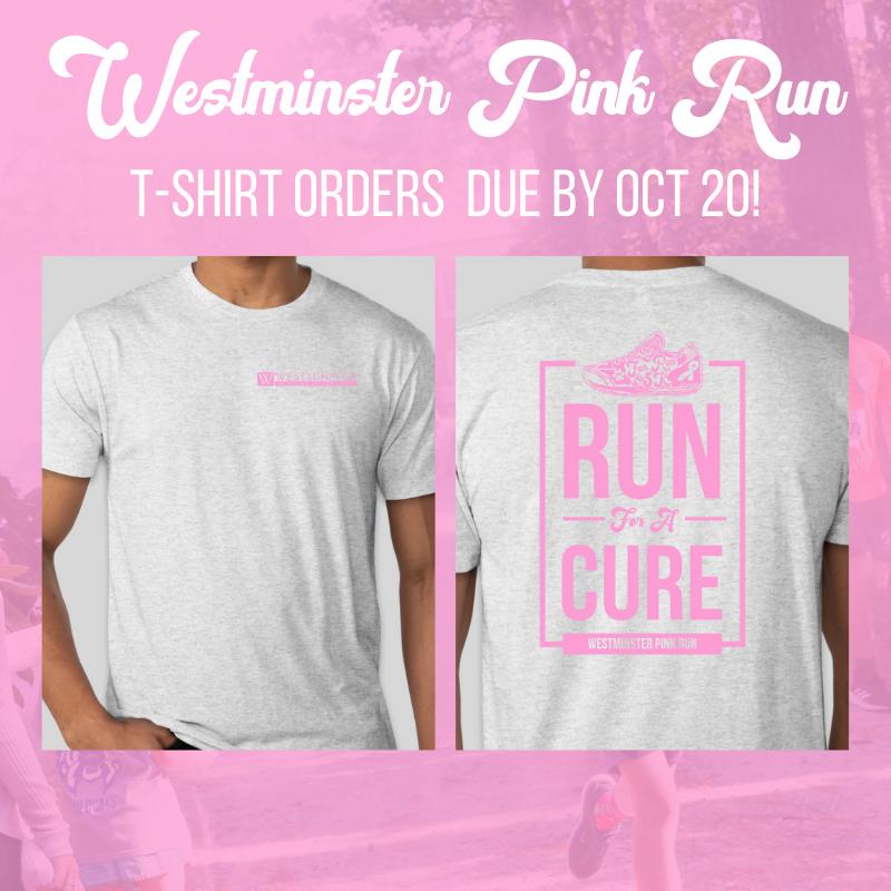 pink run t-shirts | Westminster