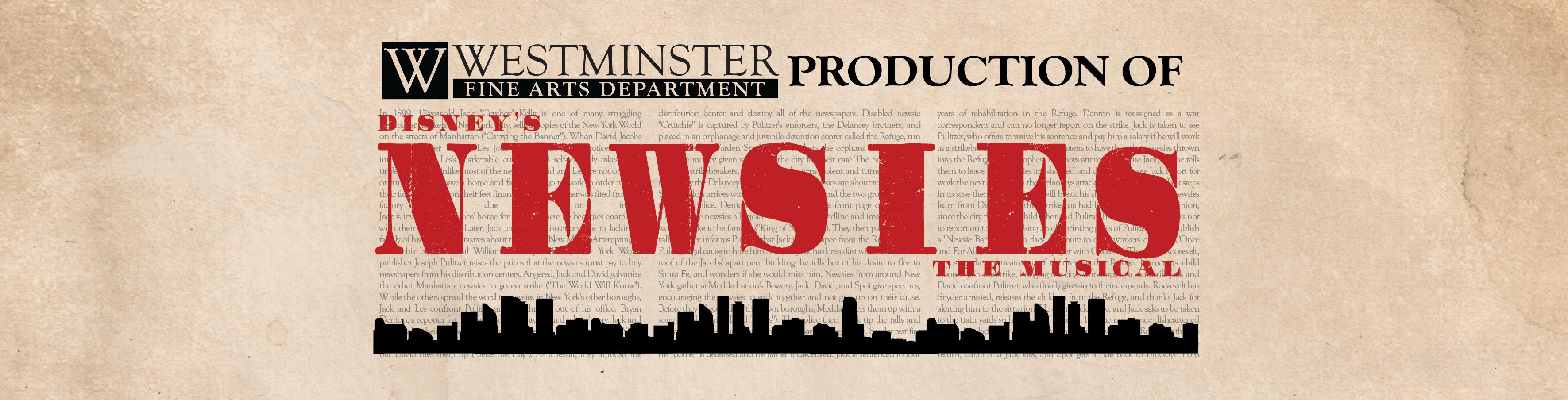Newsies Header 2   Westminster